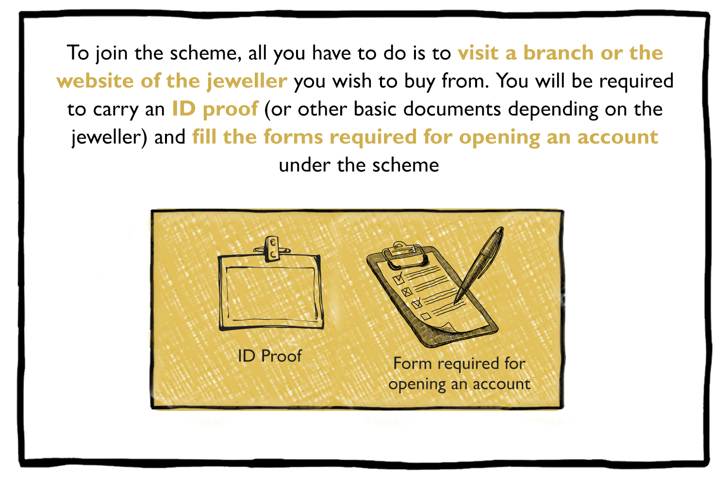Gold Schemes by jewelers required details