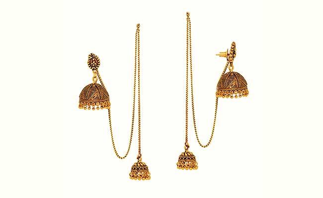 Dejihor - Traditional Kashmiri Gold Dangle Earning