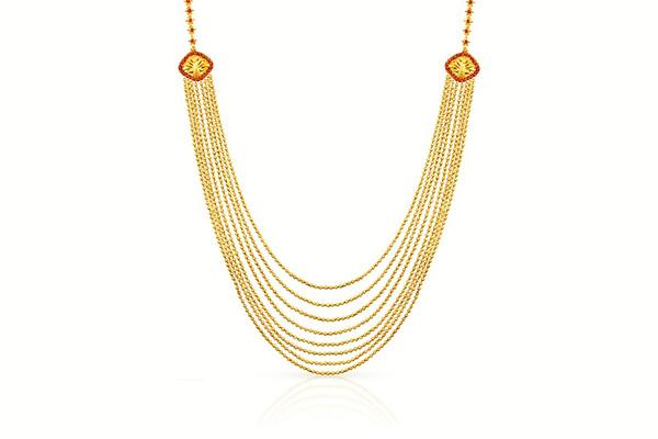 Entele Sara Gold Necklace design