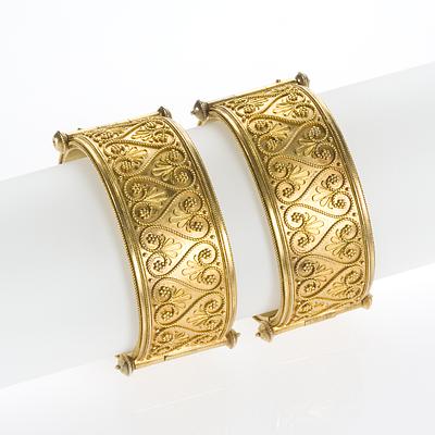 Etruscan Heavy Gold Bracelet