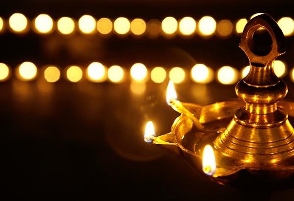 Eternal light of metal gold