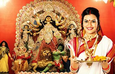 Gold jewellery designs for Durga Ashtami