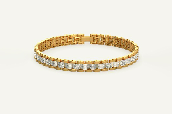 Diamond Gold Bracelet Womens