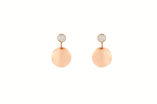 Rose Gold Earring Jewellery Design