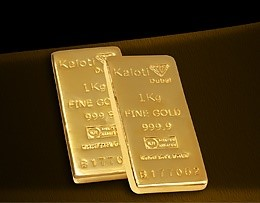 Pure gold bars from Dubai