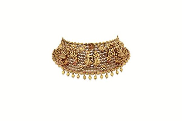 Mahalika Mudhra Gold Necklace