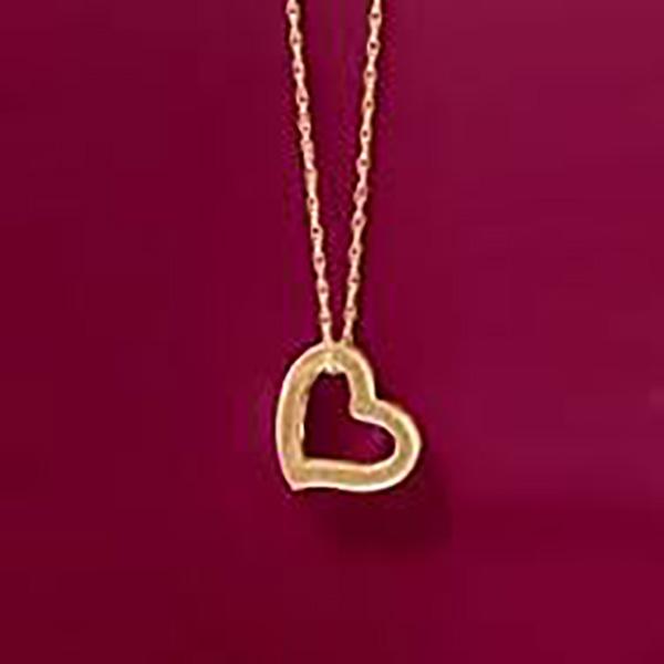 Heart Shaped Gold Pendant
