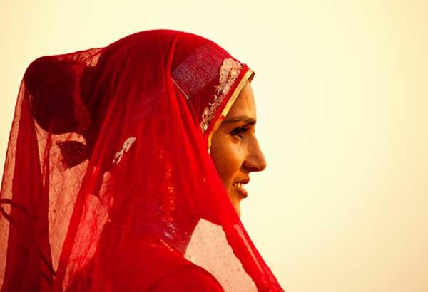 Women in rajasthani gold jewellery