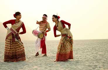 Assamese Women Wearing Traditional Gold Jewellery