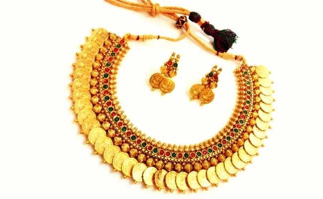 Lakshmi haar - Traditional Gold coins necklace design