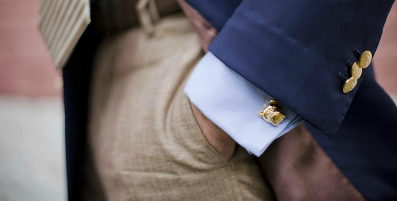 Gold cufflinks designs