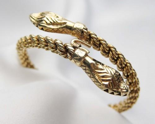 Snake like Gold Bracelet