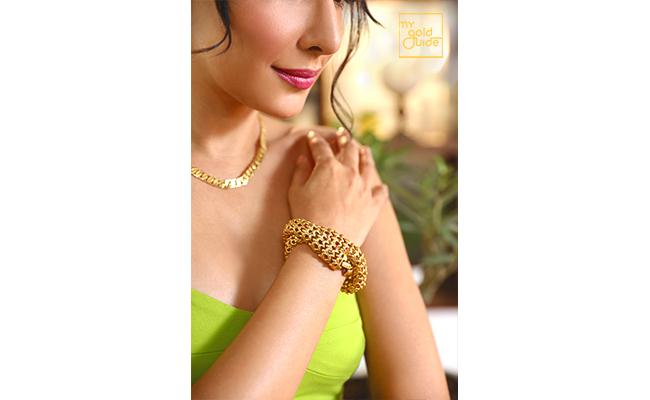 Girl Wearing Gold Jewellery