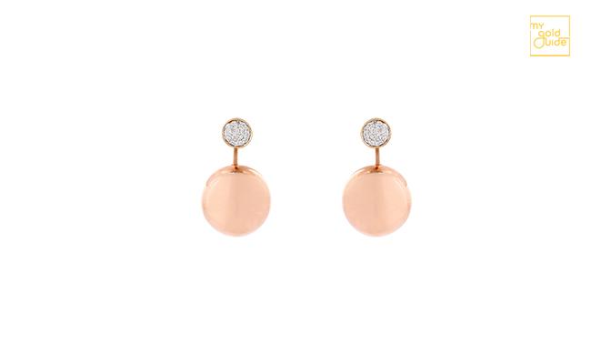 Rose Gold Earring Jewellery Design