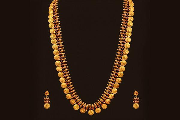 Gold Necklace Laxmi Sara Design