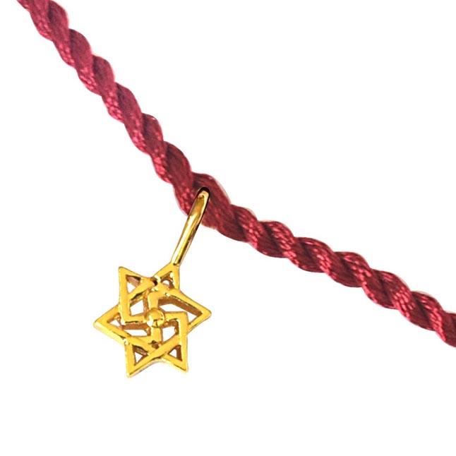 Gold Bracelet Rakhi
